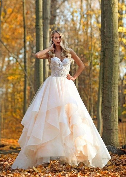 Marisa Bridal Blush BallGown available at The Blushing Bride boutique in Frisco, Texas