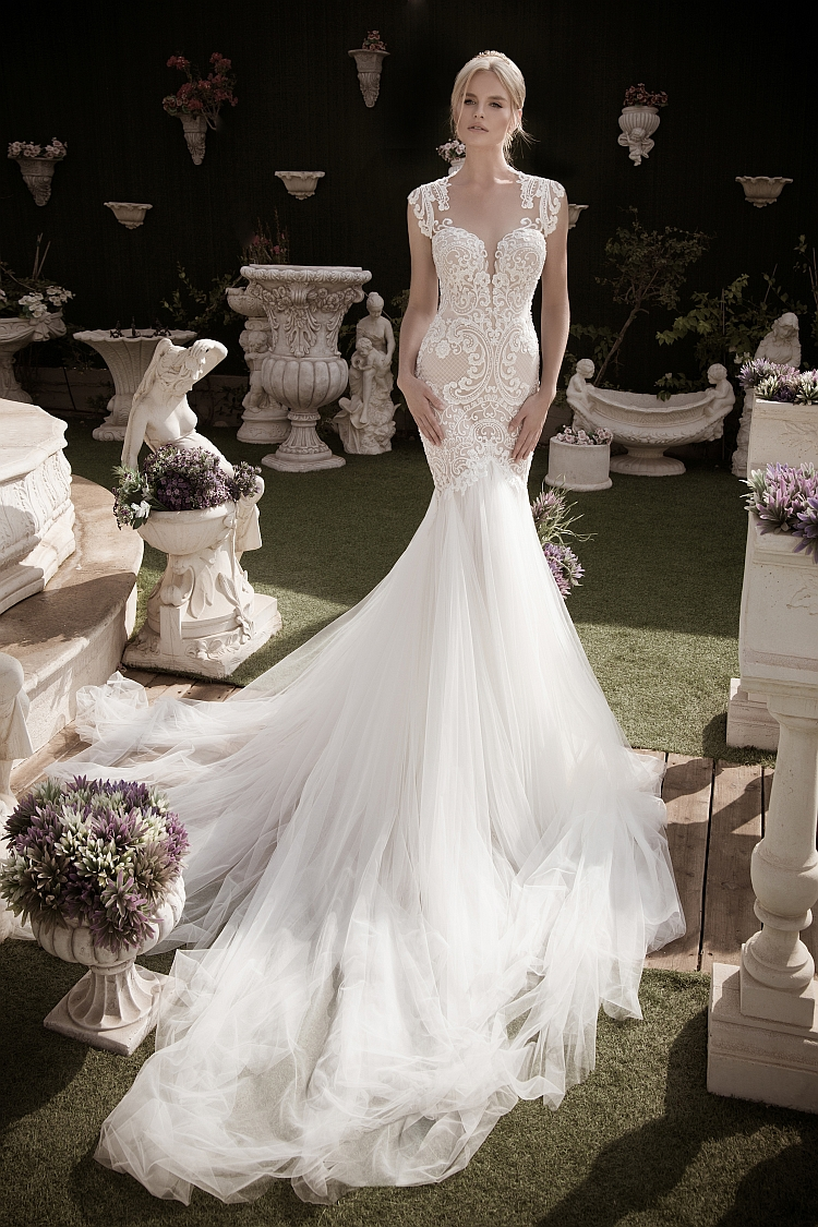 Naama and Anat Devine Couture Wedding Gown at The Blushing Bride boutique in Frisco, Texas