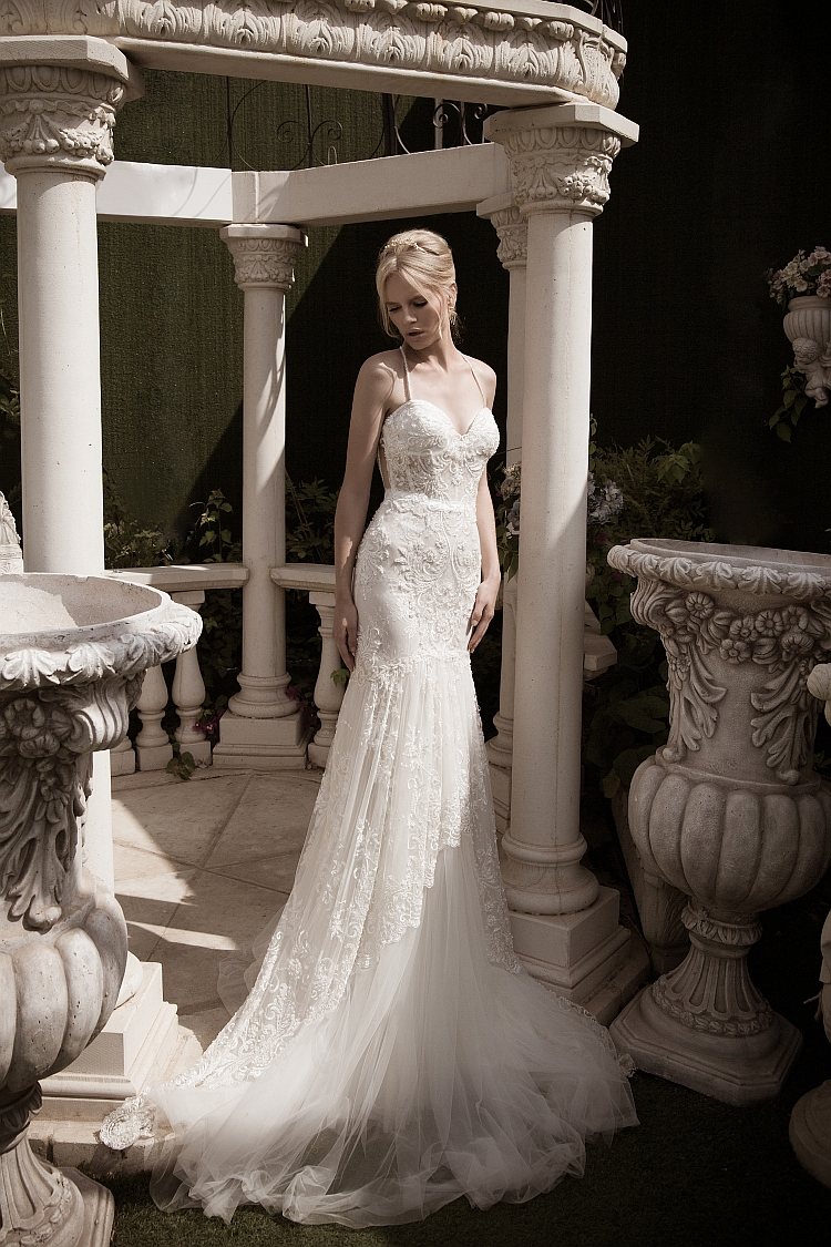 Naama and Anat Glamourous Couture Wedding Gown at The Blushing Bride boutique in Frisco, Texas