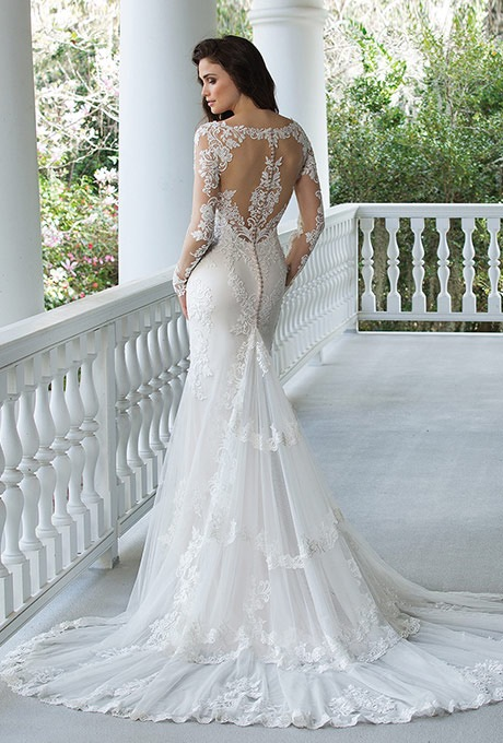 Sincerity Bridal 3936 long sleeve wedding gown - The Blushing Bride boutique in Frisco, Texas