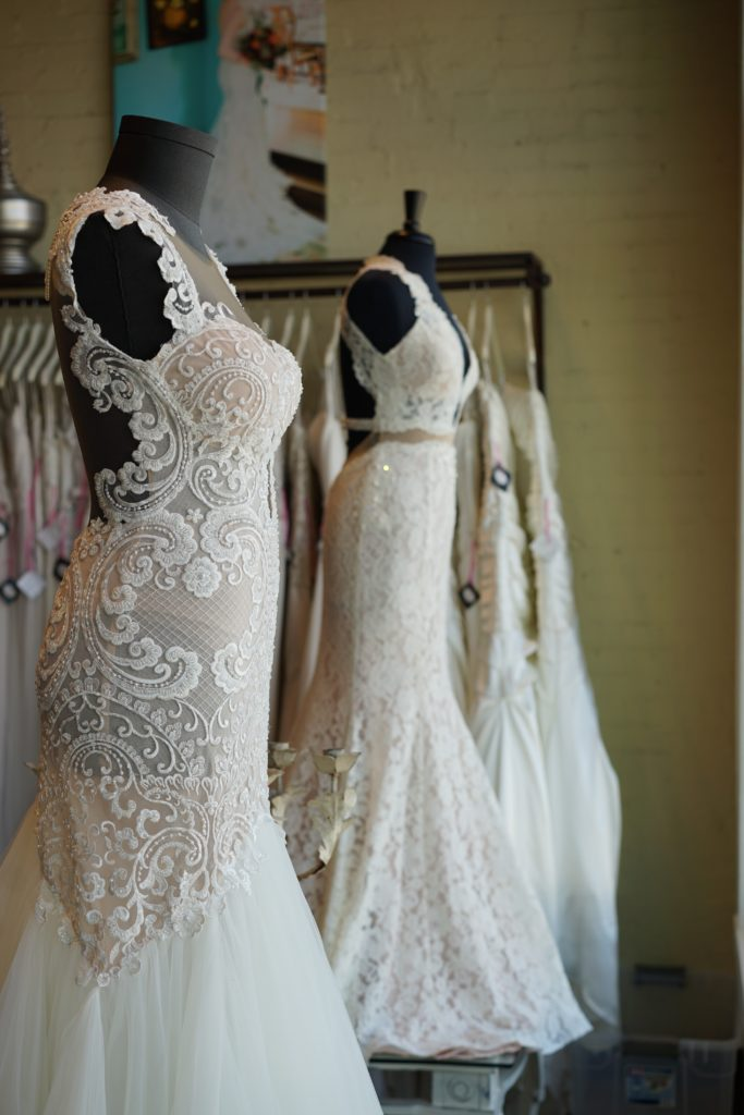 Naama and Anat Couture at The Blushing Bride Boutique in Frisco, Texas