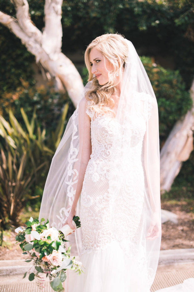 Real Bride in Divine at The Blushing Bride boutique in Frisco, Texas