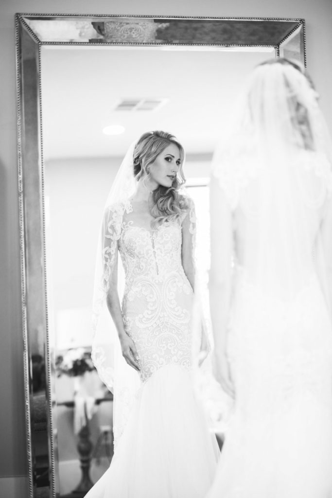 Real Bride in Divine by Naama and Anat Couture at The Blushing Bride Boutique in Frisco, Texas