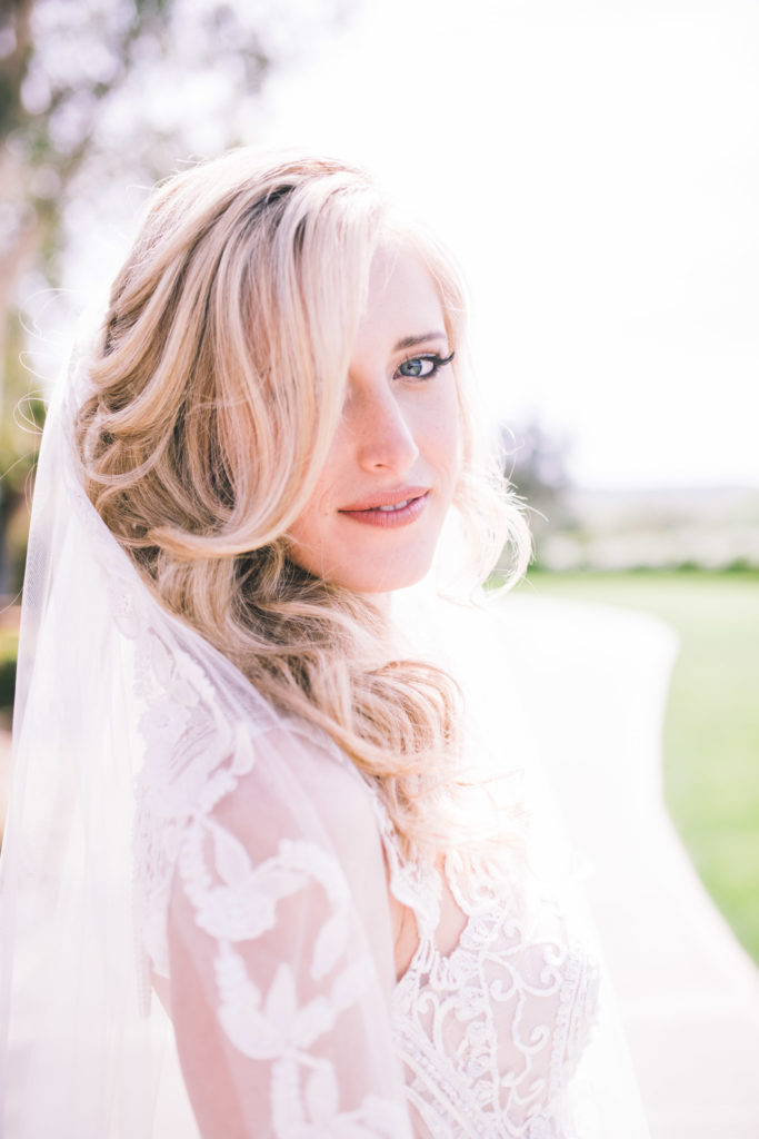 Real Naama Bride wearing Divine available at The Blushing Bride boutique in Frisco, Texas