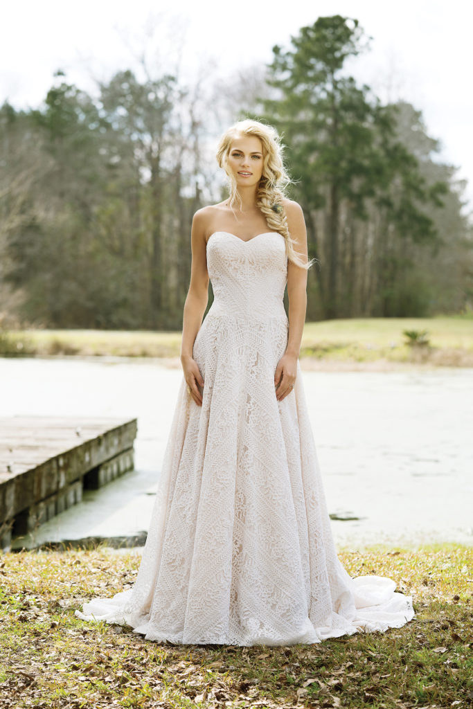 Lillian West Style 6458 at The Blushing Bride boutique in Frisco, Texas