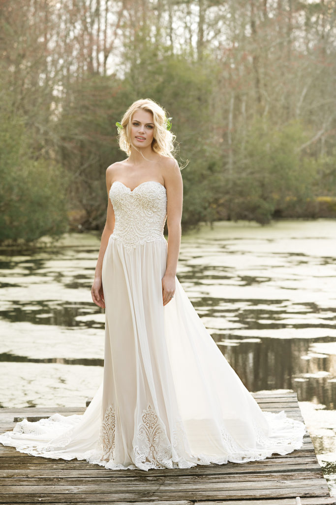 Lillian West Style 6469 at The Blushing Bride boutique in Frisco Texas