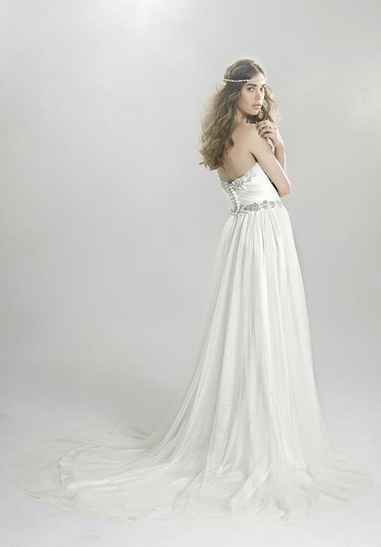 Lillian West 6411 back - The Blushing Bride Boutique / Off the Rack