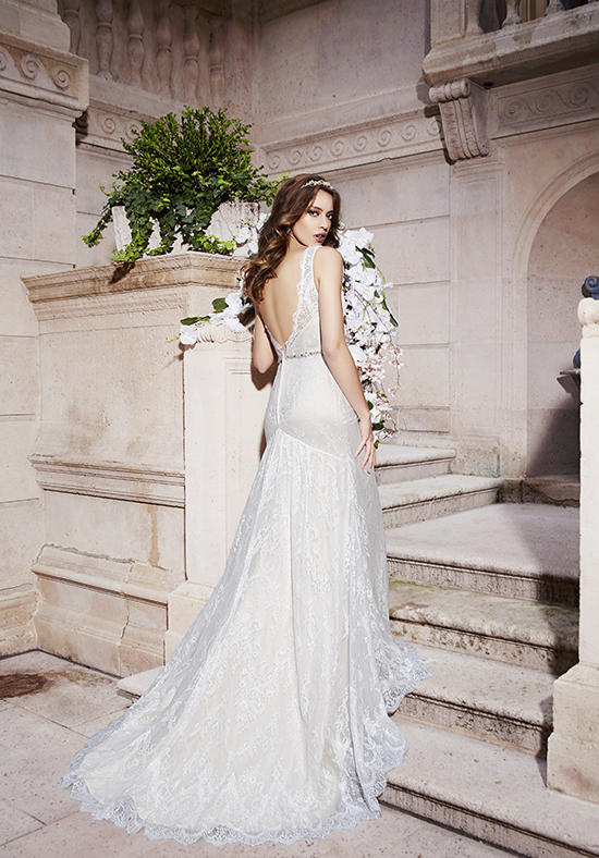 Moonlight Bridal J6394 Back at The Blushing Bride Boutique / Off the Rack
