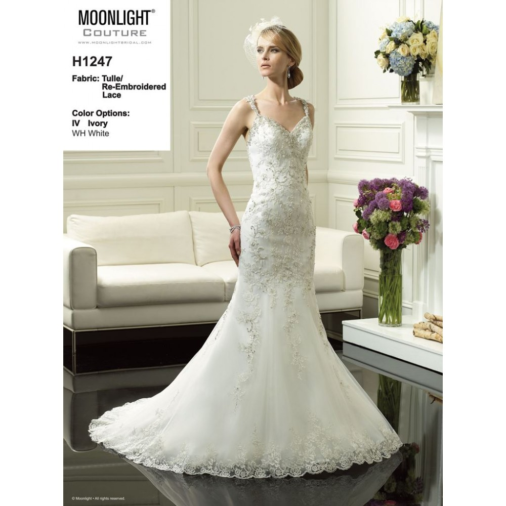 Moonlight Couture H1247 - The Blushing Bride Boutique / Off the Rack