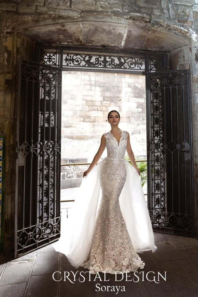Soraya by Crystal Design - Available at The Blushing Bride boutique in Frisco, Texas