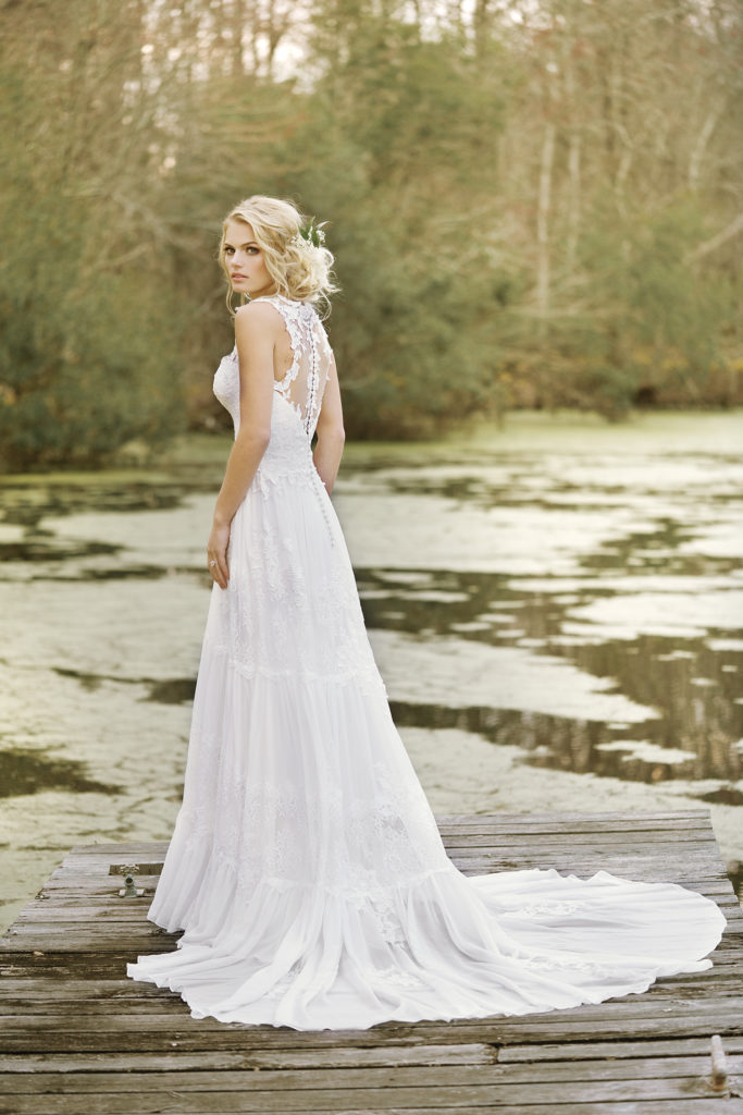 On Trend: Illusion Back Wedding Gowns – The Blushing Bride boutique