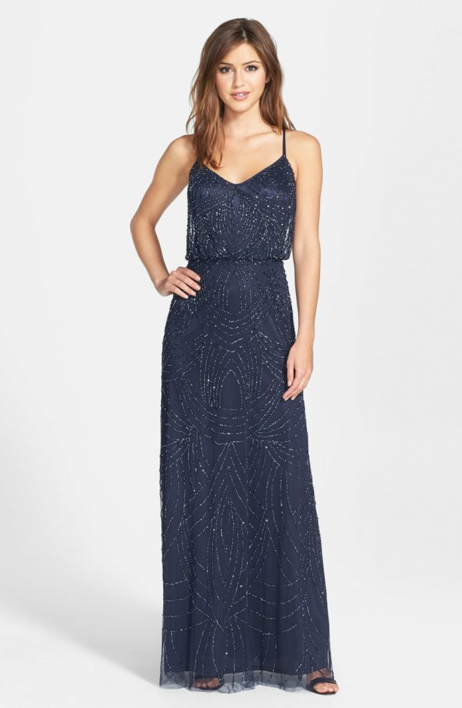 adrianna-papell-091891180-navy Off the Rack Bridesmaids / Special Occasion