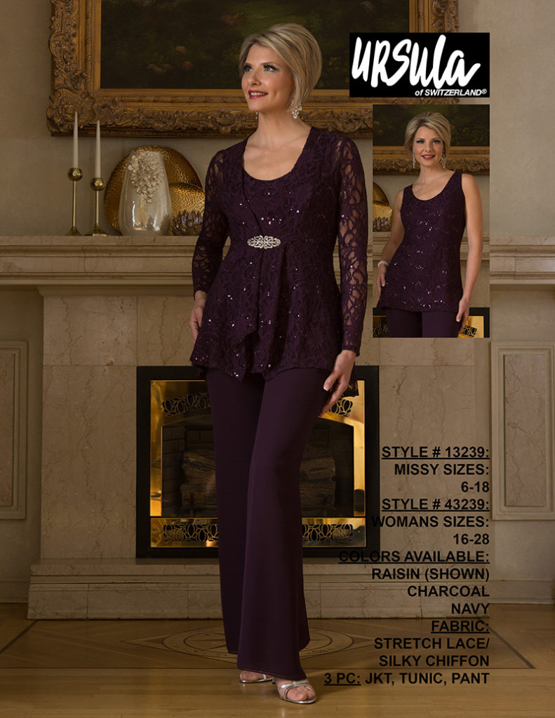 ursula-13239-raisin-pantsuit Off the Rack / Mother of the Bride / Special Occasion Dress