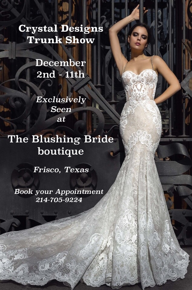 Crystal Designs - The Blushing Bride boutique, Frisco, Texas