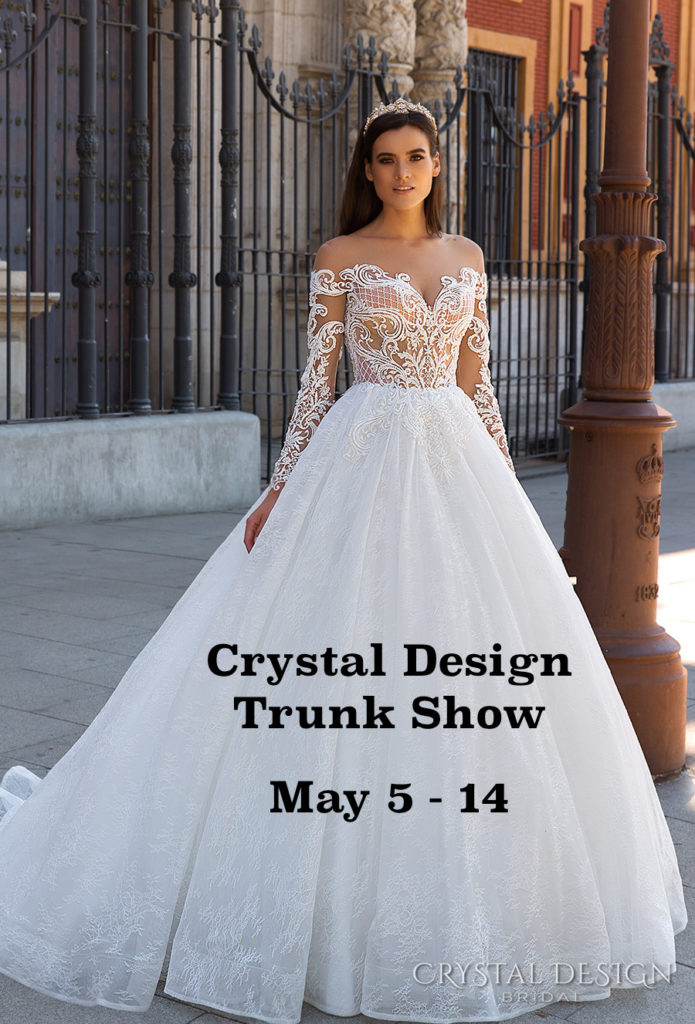 Crystal Design Wedding Gowns at The Blushing Bride boutique in Frisco, Texas