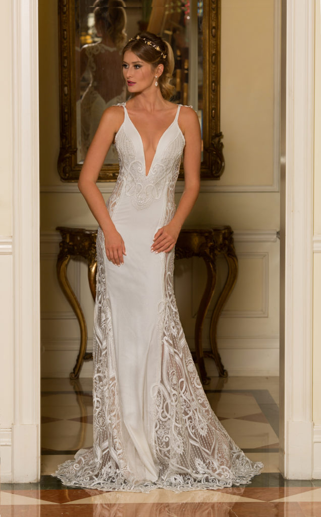 Khalisi by Naama & Anat Couture, Size 6/8, Ivory as Shown, $2,795