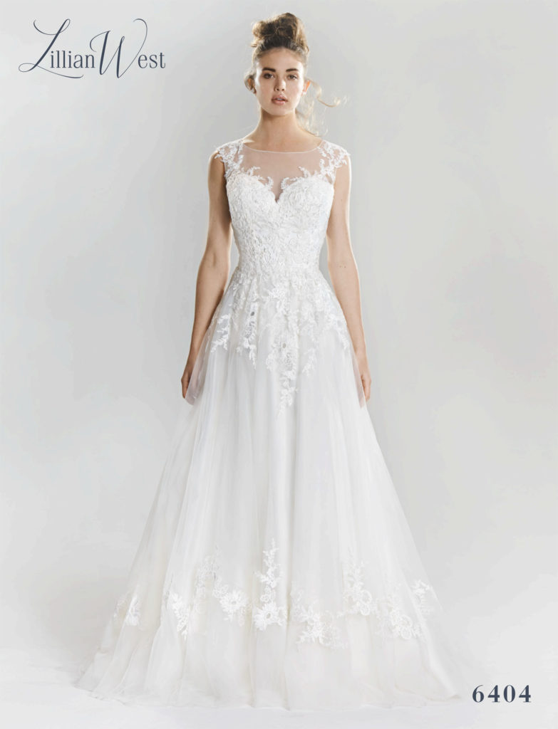 Lillian West 6404 - The Blushing Bride boutique in Frisco, Texas for Plus Size Bridal Gowns