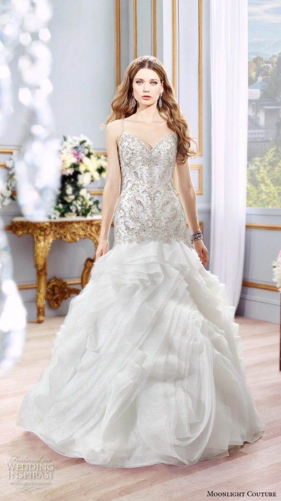 Moonlight Couture H1298 - The Blushing Bride boutique in Frisco, Texas for Plus Size Wedding Gowns