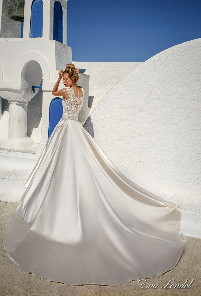 Eva Lendel Talia with overskirt - The Blushing Bride boutique in Frisco, Texas