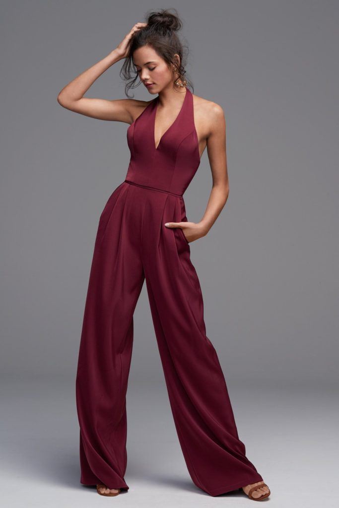 Watters 4803 Vee Jumpsuit - The Blushing Bride boutique in Frisco, Texas