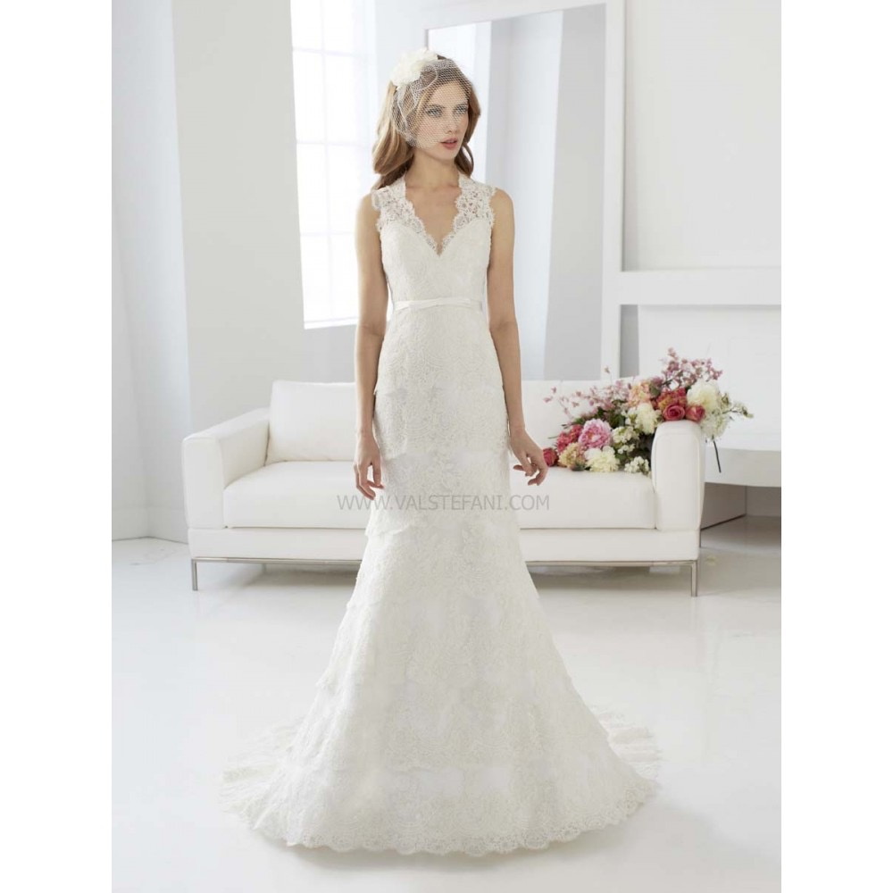 Val Stefani D8046, Size 12, Ivory/Taupe, $790