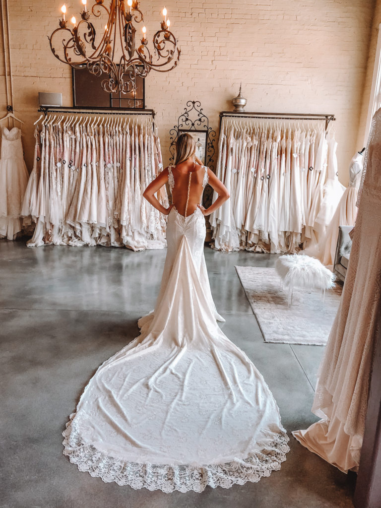 """Naama & Anat Couture """"Audrey"""" gown ~ The Blushing Bride boutique in Frisco, Texas"""