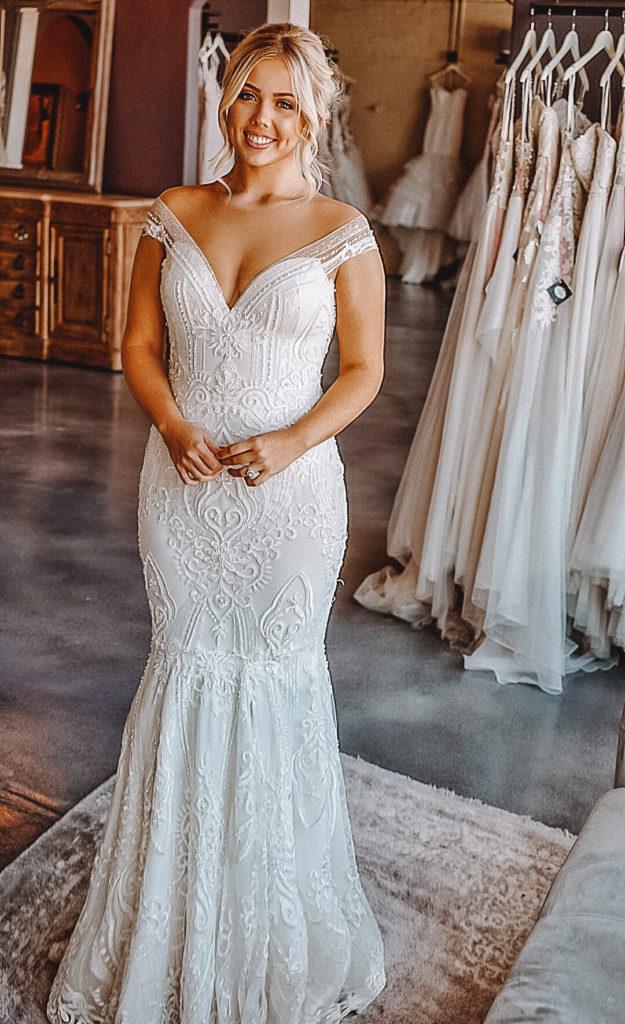 """Naama & Anat Couture """"Hayworth"""" gown ~ The Blushing Bride Boutique in Frisco, Texas"""