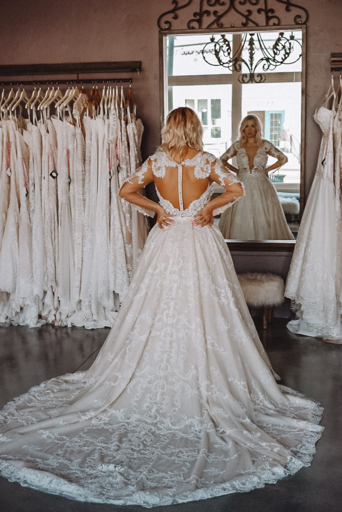 We complete your Bridal Alterations here inside our boutique ~ so we can see you through your bridal gown journey and make sure that you are pleased with how your gown looks from beginning to end.
