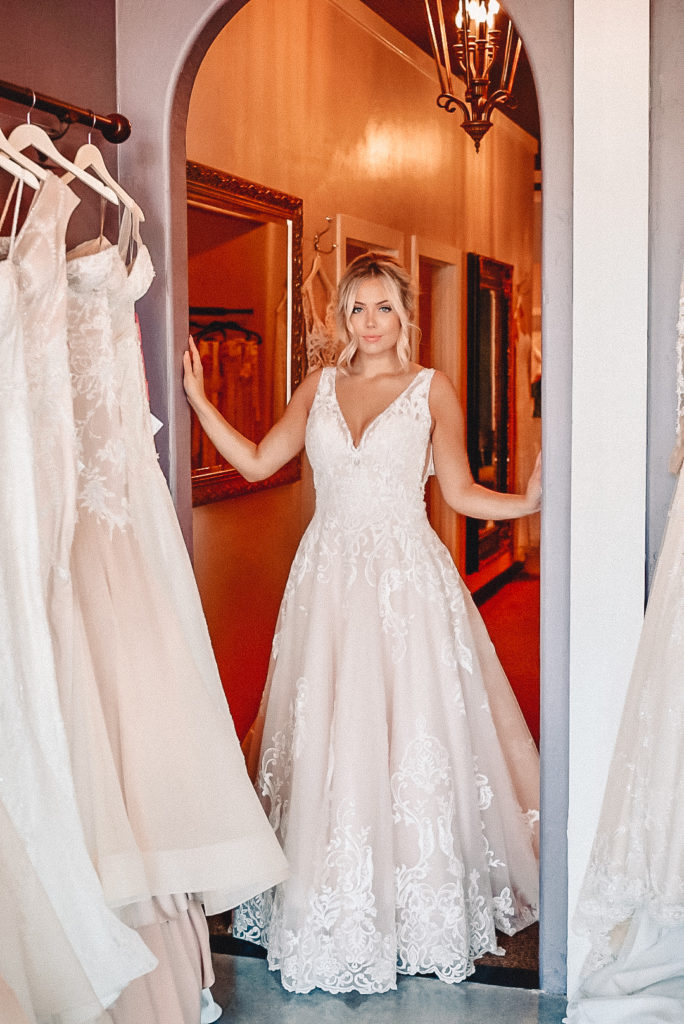 We work personally with our Brides during their 1st bridal consultation for 90 minutes. We prefer appointments especially on Saturday's which is our busiest day, and weekdays we have a limited amount of bridal consultants available, so it is best to call and book an appointment Monday thru Saturday 10AM - 6PM. We are closed on Sundays.