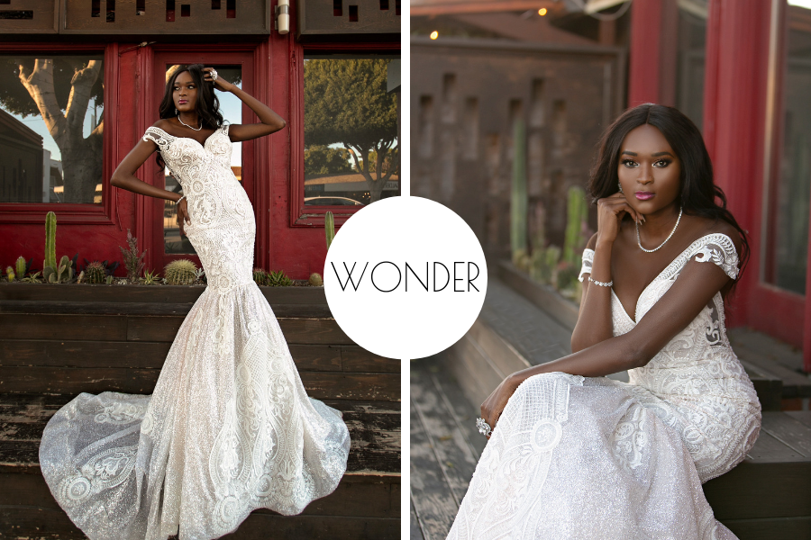 """Fierce Lady Collection """"Wonder"""" by Naama & Anat Couture - The Blushing Bride Boutique in Frisco, Texas"""