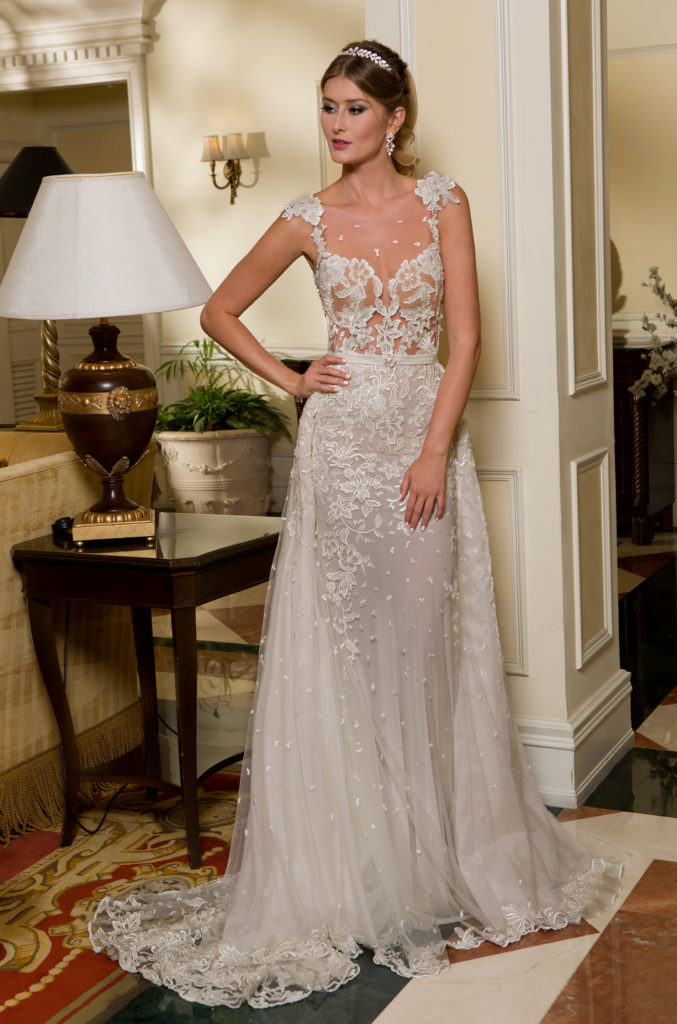 Lia Overskirt by Naama & Anat Couture - The Blushing Bride Boutique in Frisco, Texas